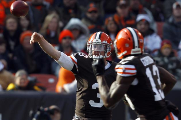 NFL Week 13 Lines: Cleveland Browns Are Fine with Brandon Weeden at QB