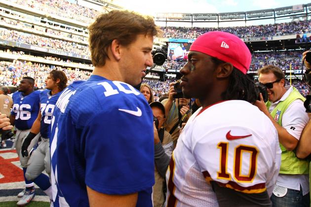 Robert Griffin III vs. Eli Manning: Looking Outside of the 2012 NFL Numbers