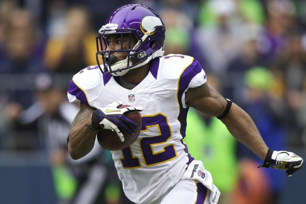 Vikings WR Percy Harvin Officially Ruled out for Sunday's Game vs. Packers