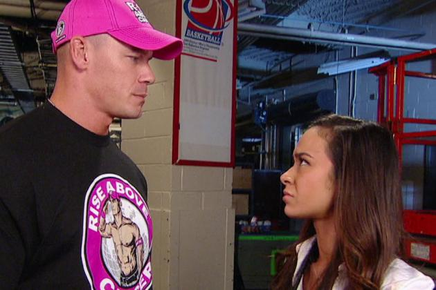 John Cena and A.J. Lee: Where Is Their Relationship Angle Going in WWE?