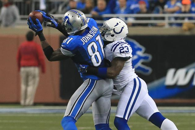 Lions' Calvin Johnson Sets Five-Game Record for Receiving Yardage