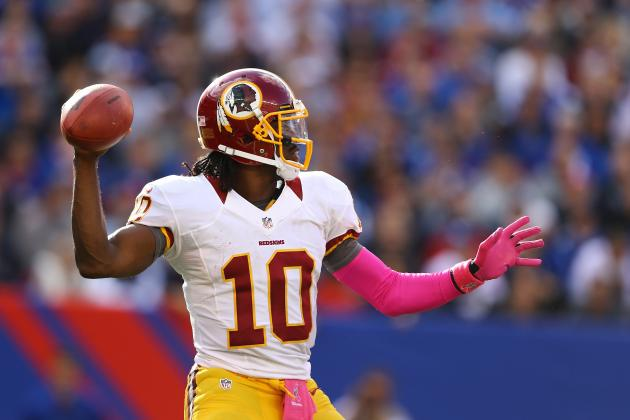 Robert Griffin III: Predicting RGIII's Stats vs. New York Giants
