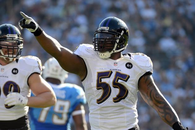 Terrell Suggs Leaves the Game in Pain