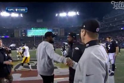 Tomlin, Harbaugh's Heated Handshake