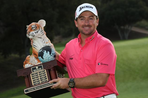 McDowell Slogs Through Rain to Beat Woods, Bradley and Furyk at World Challenge