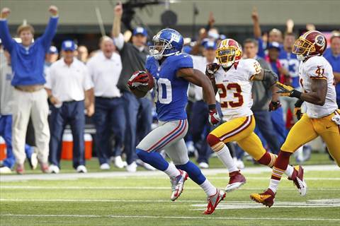 Redskins Must Put Up to Shut Up New York Giants' Victor Cruz