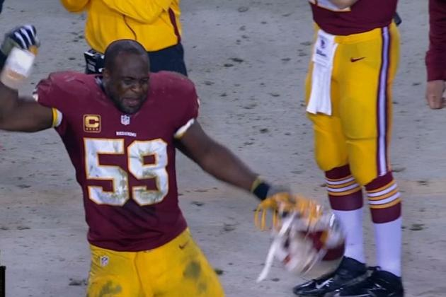 Washington Redskins LB London Fletcher Is Fired Up to Have RGIII on His Team
