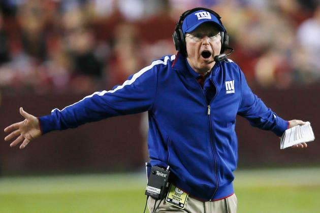 Coughlin Grumbles over Penalties, 'Sloppy Football' in Giants' Loss