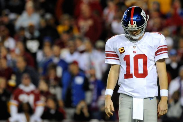 Eli Manning, NY Giants Struggle to Succeed in Red Zone Against Skins