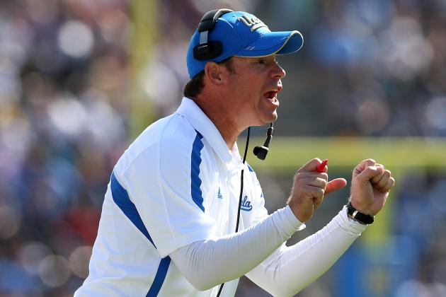 UCLA Coach Jim Mora Says He's Not Going Anywhere