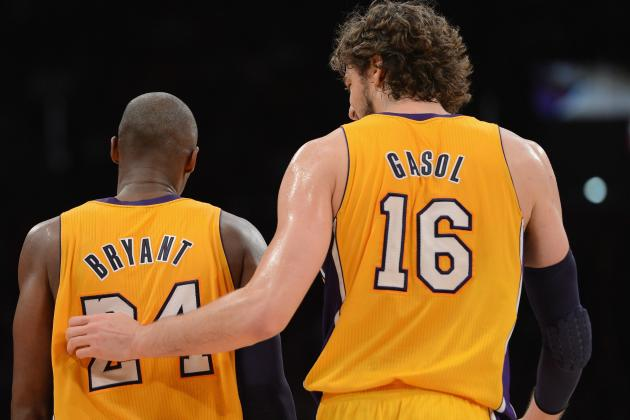 Kobe Says He Loves Ailing Gasol 'Like a Brother'