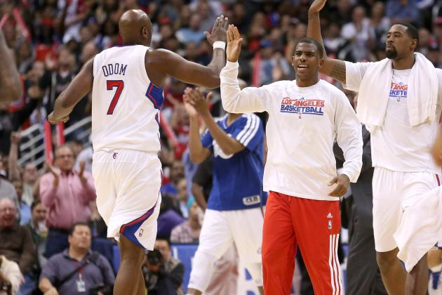 Clippers' Lamar Odom Calls His Time with the Mavericks 'a Blur'