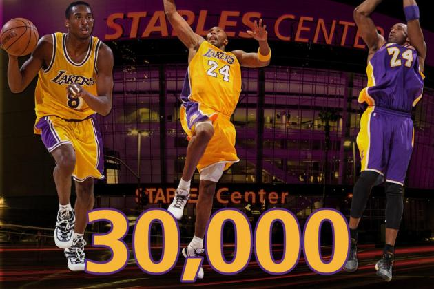 Kobe Bryant Hits 30,000 Points: Animated GIF Highlight