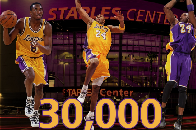 Kobe Bryant 30,000-Point Club: Twitter Reacts to Lakers Star's Amazing Feat
