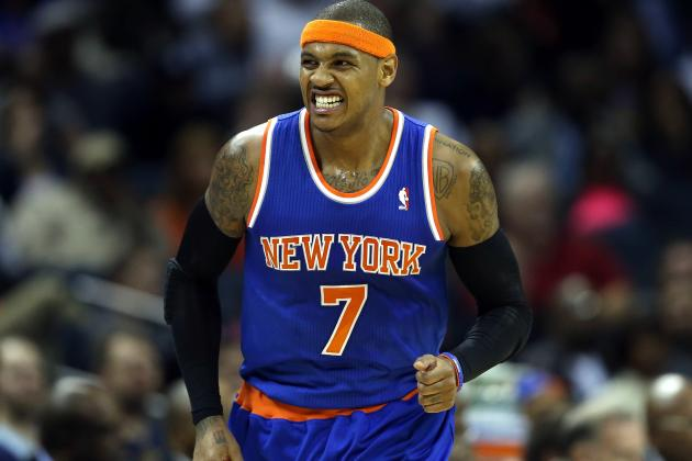 Melo Says He 'Doesn't Know' If He'll Play vs. Heat After Getting Stitches