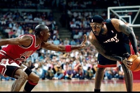 Michael Jordan Takes on LeBron James, According to King's Cell Phone