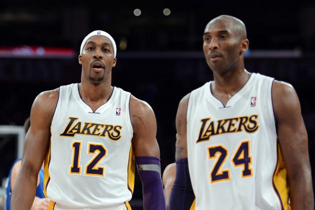 Kobe Bryant, Dwight Howard Jaw at Each Other in Lakers-Hornets Game