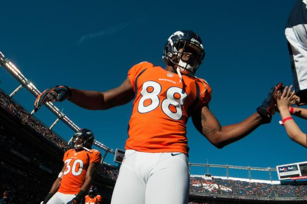 WR Demaryius Thomas Questionable to Return with Shoulder Injury