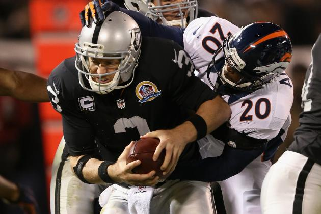 Twitter Reacts to Carson Palmer's Struggles, Raiders' Loss to Broncos