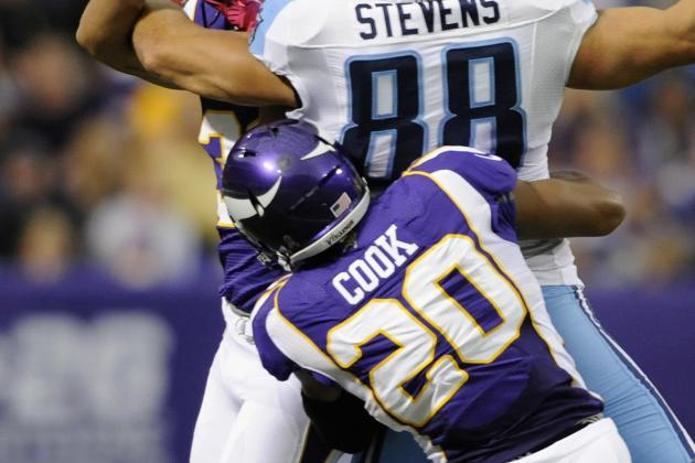 Injured Vikings Cornerback Chris Cook Returns to Practice Field