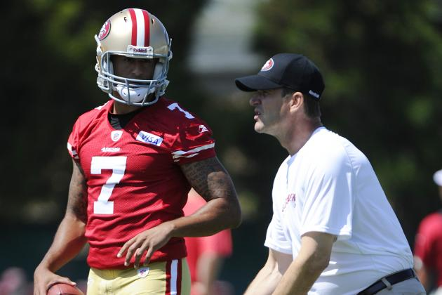 49ers' Harbaugh May See Bit of Griffin in Kaepernick
