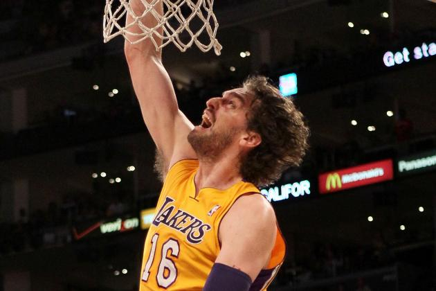 Lakers' Gasol out at OKC for Knee Tendinitis