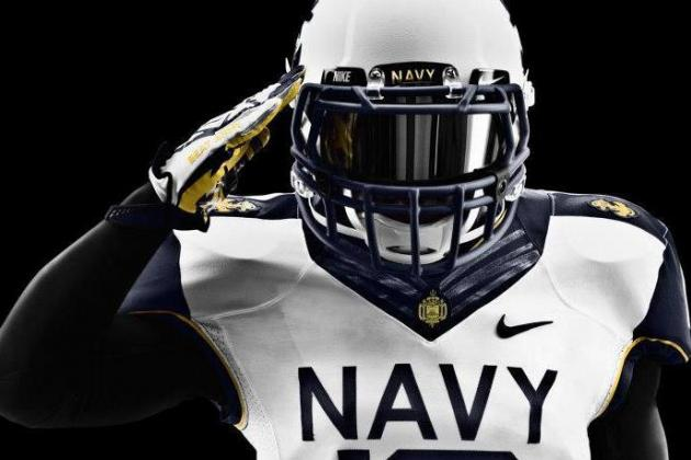 Check out Navy's Sweet Uniforms for Saturday's Game Against Army