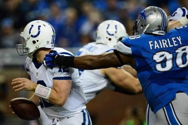 Lions' Nick Fairley Fined $15,750 for Horse-Collar Tackle on Andrew Luck