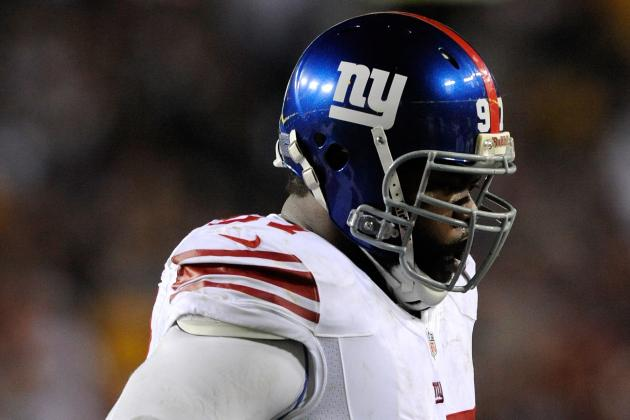 Linval Joseph Fined for Stomp on Skins' Montgomery