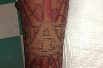 Linebacker With Enormous Auburn Tattoo Decommits to Auburn
