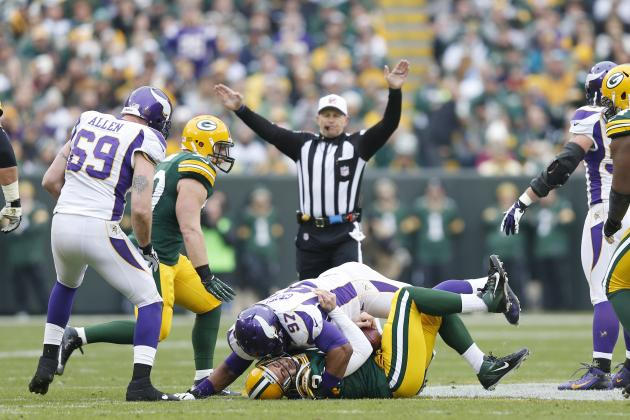 Vikings' Everson Griffen, Jasper Brinkley Fined for Hits on Packers