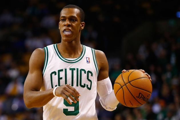 Rondo Has Near Triple-Double in 1st Half