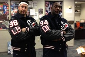 Texans Don Letterman Jackets to Celebrate a High-School-Like Spirit