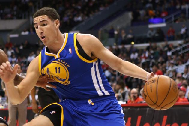 Watch: Klay Thompson Jams a Two-Handed Flush on Breakaway
