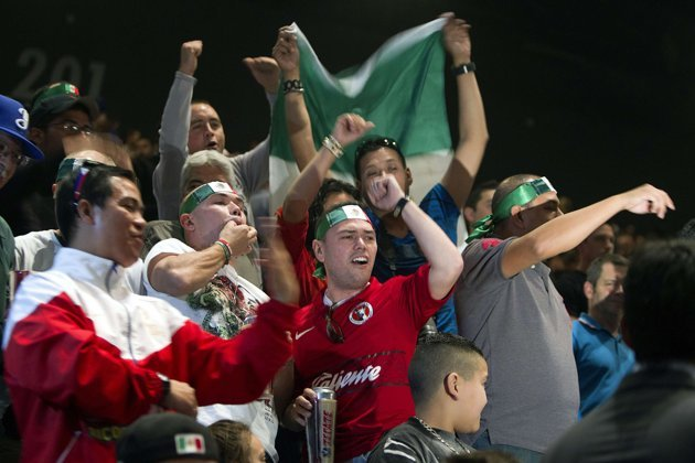 Juan Manuel Marquez Fans Make Themselves Heard at Weigh-in
