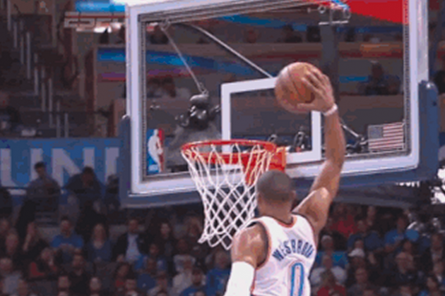 Westbrook Throws Down Big Dunk