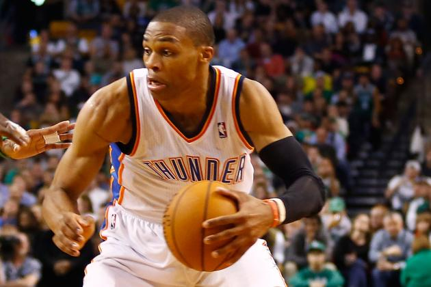 Russell Westbrook Throws Down One-Handed Tomahawk