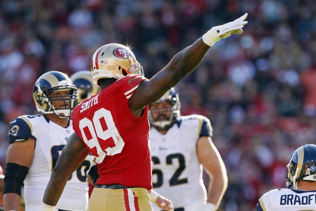 49ers' Smith in Historic Sack Race