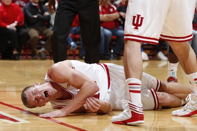 Indiana's Etherington Leaves Game on Stretcher