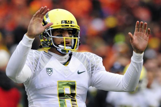 Johnny Manziel: Marcus Mariota Boasts Potential to Be Better Than Heisman Winner