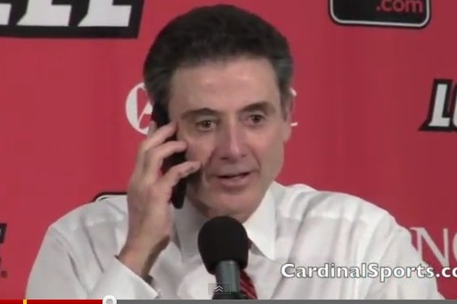 Pitino Answers Reporter's Cell