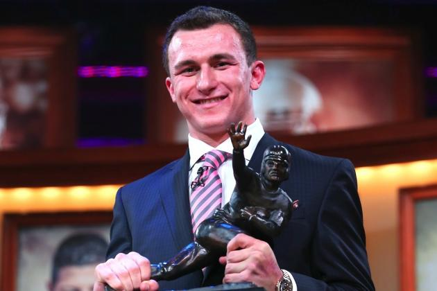Johnny Manziel Wins Heisman Trophy: Odds He Wins 2 Before Going to the NFL