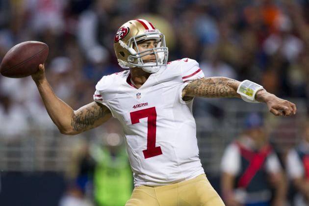 Colin Kaepernick: Huge Upside Makes 49ers QB Fantasy Must-Start vs. Dolphins