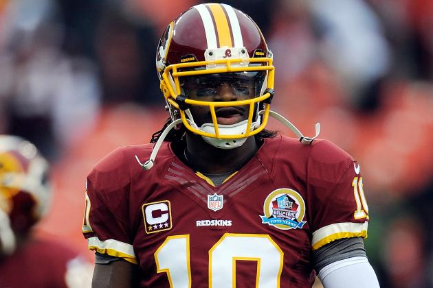 RG III Leaves Game with Apparent Leg Injury