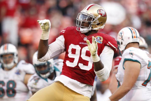 Dolphins vs. 49ers: Aldon Smith Sets 49ers Sack Record and Frank Gore Tops 1,000