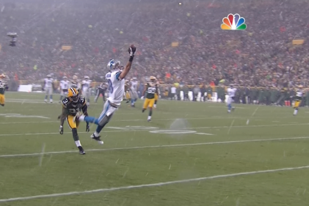 Lions vs. Packers: Kris Durham Makes a Sick One-Handed Catch
