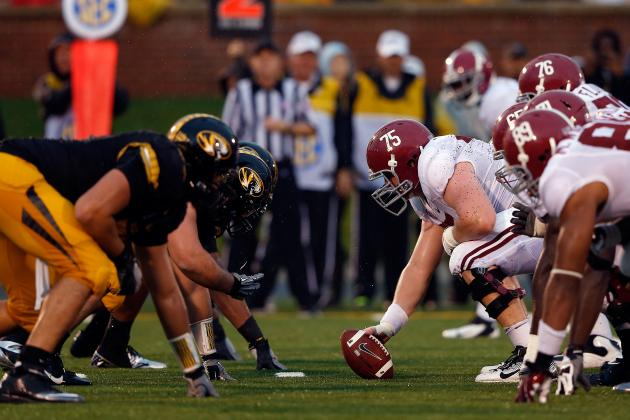 Alabama Football: Why Alabama's O-Line Is the Key to the BCS Championship