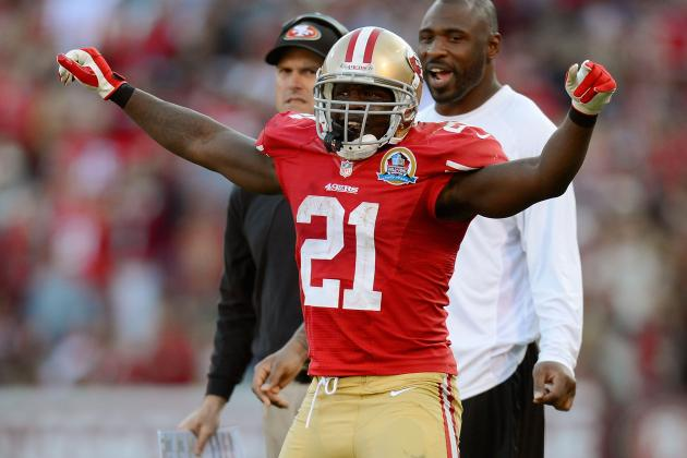 Frank Gore vs. Alfred Morris: Who Had the Better Postgame Shirt?