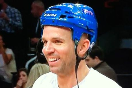 Jason Kidd Rocks the Hockey Helmet After Injury