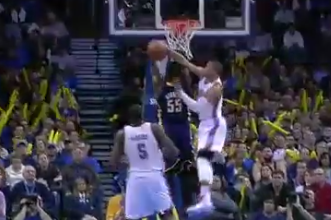 Video: Russell Westbrook Block Shuts Down Roy Hibbert